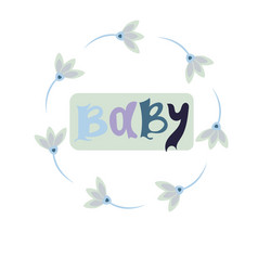 Baby card or cover collection of templates vector