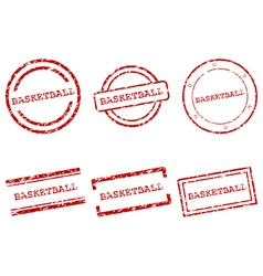 Basketball stamps vector