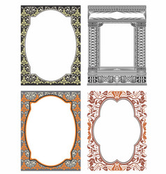 Borders ornamental vector