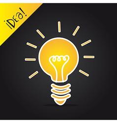 Bulb electric over black background idea vector