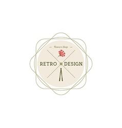 Carnation flowers Logotype Label Badge vector