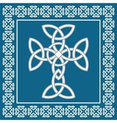 Celtic crosssymbolizes eternity vector