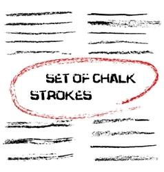 Chalk lines Chalk hand drawn strokes vector
