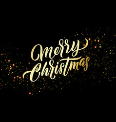 Christmas golden light sparkles and gold vector