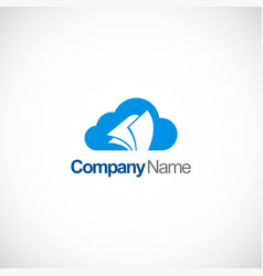 cloud document technology logo vector image