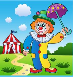 clown theme picture 4 vector image