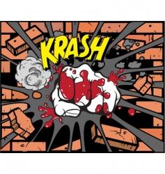 Comic book fist vector