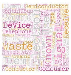 Consumer Electronics Items text background vector image