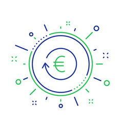 Euro money exchange line icon banking currency vector