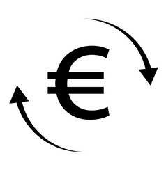 euro money transfer on white background money vector image