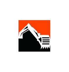 excavator logo design excavator logo design vector image