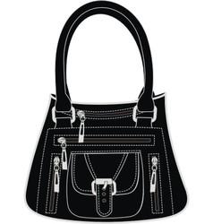 Fashionable leather handbag vector