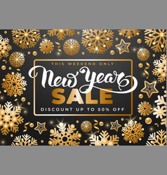 festive christmas and new year sale advertisement vector image