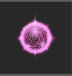 fireball glowing purple circle magic element vector image