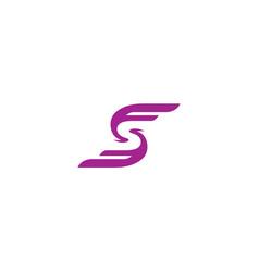 fs wings logo vector image