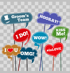 funny weddings phrases vector image