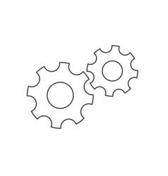 gears line icon vector image