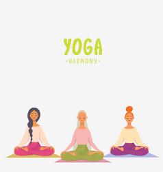 girls yoga vector image
