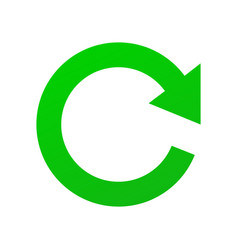 green sign refresh update and renew isolated vector image