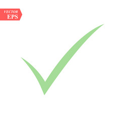 green tick mark for correct approved for your vector image