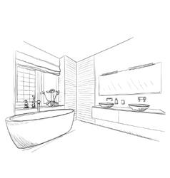 Hand drawn Bathroom vector image