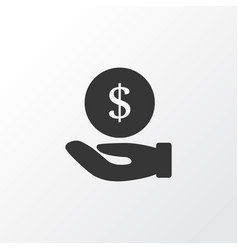 hand money icon symbol premium quality isolated vector image