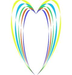 High heart vector