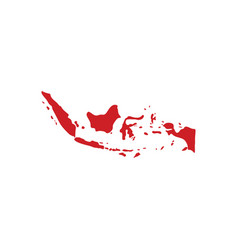 indonesia map logo icon symbol element vector image