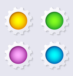 infographic gears buttons vector image