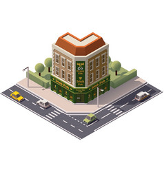 Isometric pub vector