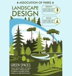 Landscape design and gardening service vector