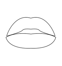 Lipstick or lips icon vector