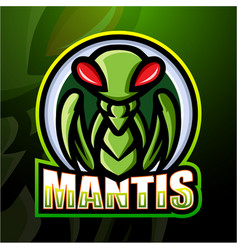 Mantis mascot esport logo design vector