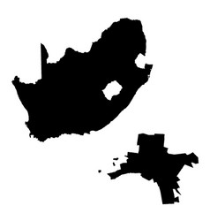 Map south africa and pretoria country and vector