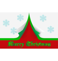 Merry Christmass card vector image
