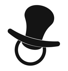 nipple toy icon simple style vector image