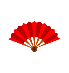 paper hand fan graphic vector image
