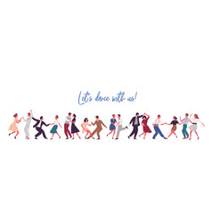 people dancing lindy hop swing or jazz dance of vector image