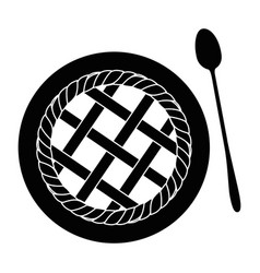 pie sweet dessert vector image