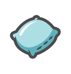 Pillow sleep aid icon cartoon vector