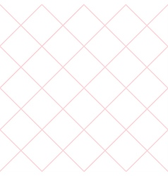 Pink Grid White Diamond Background vector image