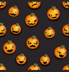 pumpkin seamless halloween party decoration scary vector image