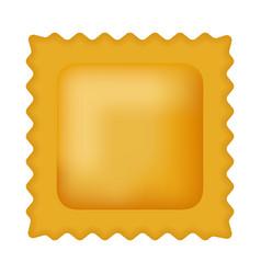 quadretti pasta mockup realistic style vector image