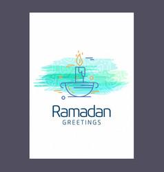 ramadan kareem background calligraphy greeting vector image