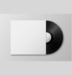Realistic 3d music gramophone vinyl lp vector