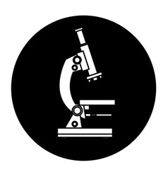 School microscope study science laboratory vector