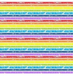 Seamless cute rainbow background vector image