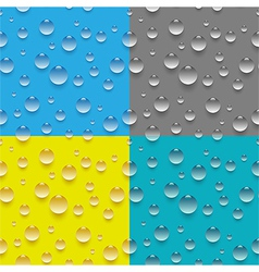 Seamless water drop pattern vector image