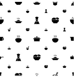 Soup icons pattern seamless white background vector