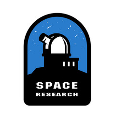 Space research badges and logo emblem vector